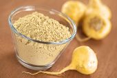 stock photo of lats  - Maca powder  - JPG