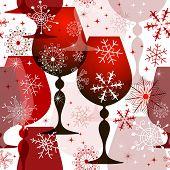 Patrones sin fisuras de Navidad rojo-blanco