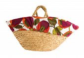 Floral Cover Korb Tote
