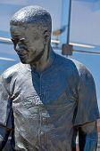 Bronze statue of Jackie Robinson