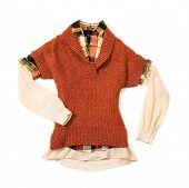 Orange Knit Fashion Look Still Life