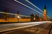 Light trails at Westminster