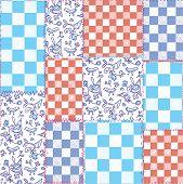 Dutch seamless plaid pattern - delfts blue