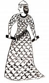 picture of sumerian  - historical costume  - JPG