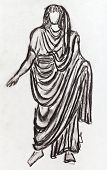 Ancient Roman Emperor In A Toga