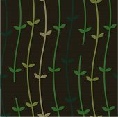 Plant Vines on a Wall_Seamless Pattern