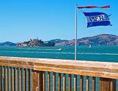 Isla de Alcatraz de Pier 39 en San Francisco California Usa