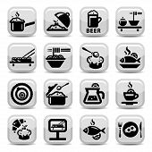 stock photo of continental food  - Elegant Food Vector Icon Set Created For Mobile - JPG