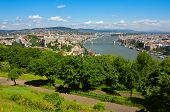 image of hungarian  - Colorful panoramic view of the Hungarian capital Budapest in a bright sunny day - JPG