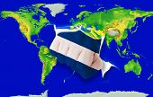 Fist In Color  National Flag Of Nicaragua    Punching World Map