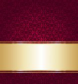 Red And Gold Luxury Vintage Wallpaper Background