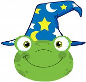 Frog Smiling Head With Wizard Hat