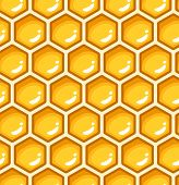 Seamless pattern with honeycomb. Vector illustration.