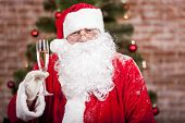 Santa Claus With A Glass