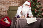 Santa Claus Writes His List