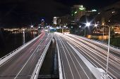 Expressway Tail Lights Brisbane Landscape
