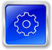Gear Icon On Blue Button