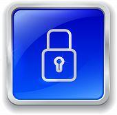 Lock Icon On Blue Button