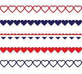 Patriotic Heart Borders