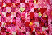 Red Patterned Quilt