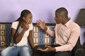 Young African Couple Quarrelling