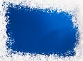stock photo of scrape  - Snow on blue pattern - JPG