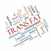 stock photo of trans  - Trans Fat Word Cloud Concept Angled with great terms such as grams diet unsaturated and more - JPG