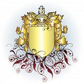 vector gold crest element