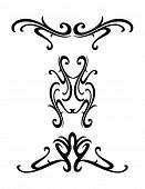tribal elements - vector tattoo design