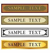 stock photo of nameplates  - Art Nouveau or Deco nameplate for sign or border frame nameplate - JPG
