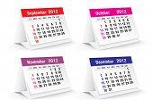 2012 desk calendar - vector illustration