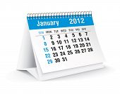 foto of tuesday  - january 2012 desk calendar - JPG