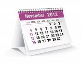 november 2012 desk calendar