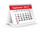 september 2012 desk calendar