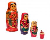 russian wooden dolls row -