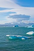 Glacier lagoon in east iceland