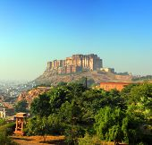 landscape with fort in Jodhpur India