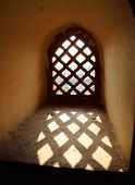 ornament lattice window in rajasthan india