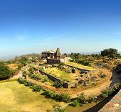 landscape with old temple in kumbhalgarh fort - rajasthan india