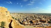 panorama of Jaisalmer city in india - Rajasthan