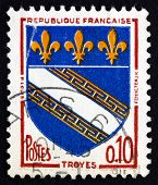 Postage Stamp France 1963 Arms Of Troyes