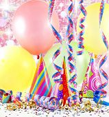 Party accessories abstract colorful background