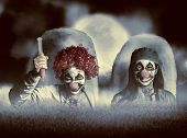 Evil Zombie Clown Doctors Rising From The Dead