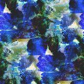 abstract avant-garde seamless blue, green wallpaper watercolor a