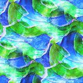 abstract blue, green avant-garde seamless wallpaper watercolor a