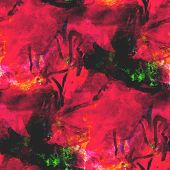 abstract avant-garde red seamless wallpaper watercolor art hand