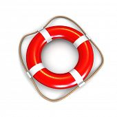 Life preserver isolated. 3d illustration