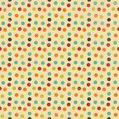 Seamless Geometric Circles Background Pattern