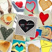 a collage of different snapshots of hearts and heart-shaped things shot by myself, one of them with