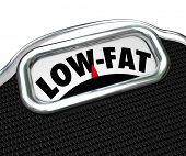Low-Fat Words Scale Healthy Nutritional Food Choice